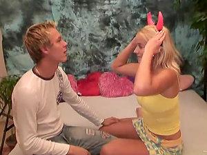 Horny Blonde Teenage Cindy Buck Having Her First-ever Big Manstick On Web cam