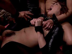 Crazy Japanese Tamaki Nakaoka Manacled when Sucking and Fucking