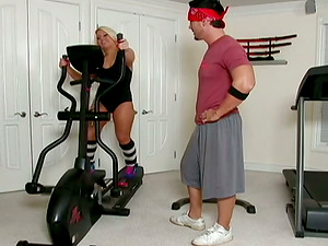Sporty Blonde Honey Heather Huntley Using Fucky-fucky as Ideal Workout