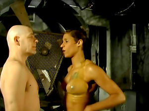 Bald Dude Adores When Some Chicks Abase Him While Tied Up