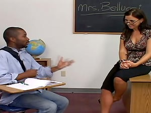 Sexy instructor Maria Bellucci gets fucked by a black dude