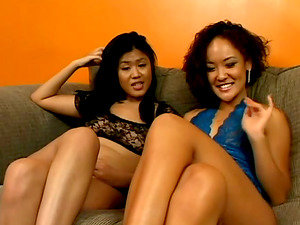 Exotic Lezzie Chicks Gobbling and Frolicking Cunt with Strapon Joy