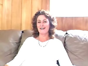 Horny Mature Whore With Big Natural Tits Masturbating On Couch