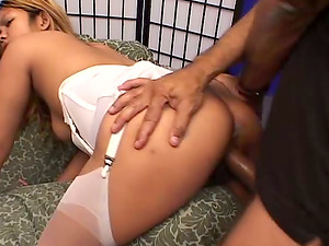 Asian Hoe In Milky Stocking Wants Facial cumshot After Xxx Fucking