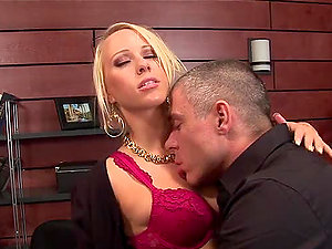 Banging the Hot Blonde Carla Cox's Beaver in the Office