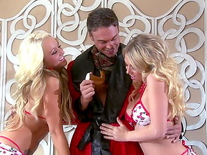 Amazing FFM Threesome with Blonde Beauties Briana Blair and Shawna Lenee