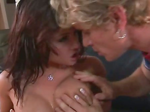 Brown-haired dame gets her hair pulled during wild rectal fuck-a-thon
