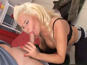 Blonde stunner with big nips gets banged in close-up vid