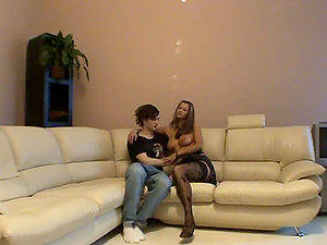 Big Tits Dark-haired Feya and Ladnik Couch Teenager Hump
