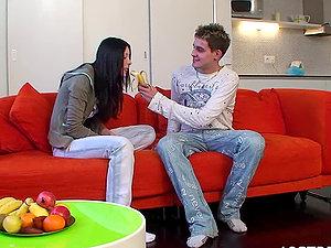 Karolina and Jaromir Fellatio With Nice Jizz In Mouth Drink