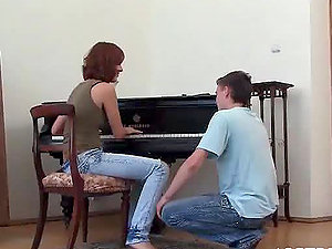 Kinky Piano Lessons With a Insane Teenager