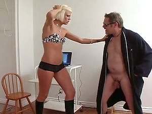 Predominate Blonde in High High-heeled shoes Takes Manage of This Fellow