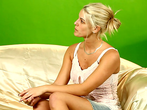 This Casting Couch has a Cutie With Natural Tits and a Nice Butt