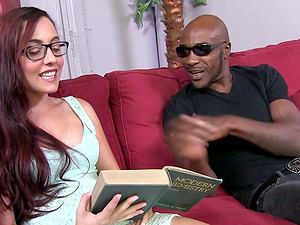 Beautiful Honey In Glasses Gets Ripped Her Asshole By Big Black Dick