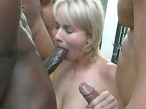 Horny bond is under the possession of three black dudes