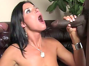 Spouse sees two big black chisels fuck his wifey in this hotwife group sex