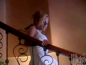 Beautiful Blonde With Big Natural Tits Is Making Love With Her Man