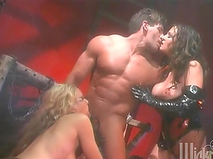 Lots of leather on display in this hard-core group hookup vid where they get down and dirty