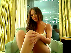 Curvy Cutie with Big Tits Plays on her Webcam