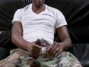 A Black boy gets his dick sucked by a eyes covered Milky fellow