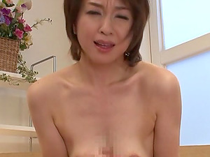 Point of view porno with a lusty Japanese mummy Wakaba Onoue