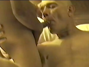 Bald Fag With Hawkish Nose Getting Banged In Wild Threesome