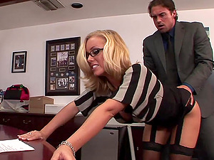Hot Blonde Gets Screwed In The Office