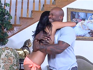 Nice Asian Nyomi Marcela deep-throats a Big black cock and hops on it ardently