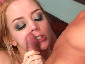 Gorgeous Annette Excited As She Strokes The Dicks In Threesome