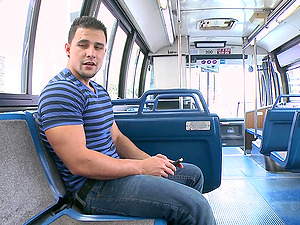 That public bus is empty and it's a chance