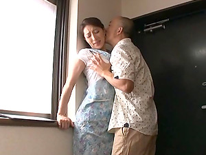Marina Matsumo gets her Asian twat gobbled and banged from behind