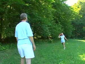 Old Fart Bang Blonde Teenager And Senses Her Mouth With Sperm