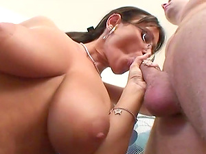 Hot bang-out with the naturally huge-titted cougar Pandora