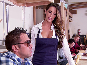 Hot Curvy Instructor With Lengthy Hair Getting Hammered Doggystyle