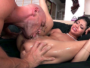 Sexy honey with petite tits loving being penetrated hard-core missionary