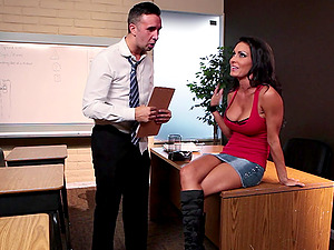 Pretty Black-haired In Miniskirt Getting Smashed Hard-core Doggystyle