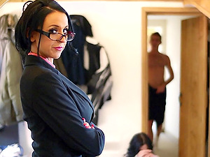 Sexy Supah Fanny With Big Tits Fucks Youthfull Man With A Monster Hard-on
