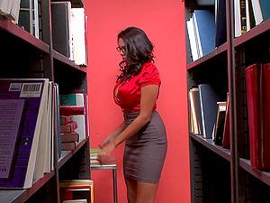 Mischievous Dark-haired Hotty Missy Martinez Gets Banged In The Library