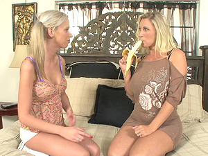 Huge-titted Blonde Get Jizm On Their Tits In This Hot FFM Threesome