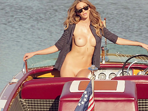Hot Stunner Modelling Her Hot Culo In A Yacht In Erotic Flick.