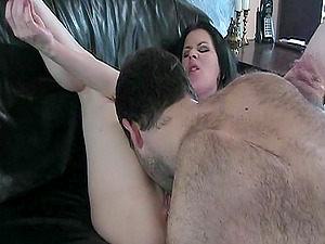 Hot Caboose Smoking Cougar Gets Twat Gobble In CFNM Onanism