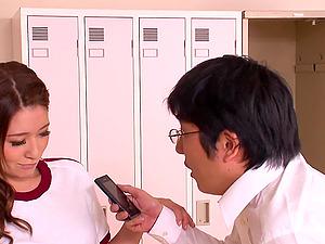 Japanese Locker Room Gonzo Fellatio Act