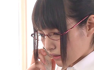 Endearing Asian Dame In Glasses Providing Giant Dicks Handjob