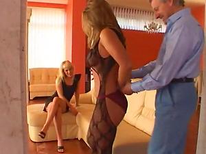 Brunettes In Undergarments Share Hard Man sausage In FFM Threesome
