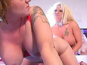 Chubby Lezzie With Big Tits Drilling Xxx Using A Strap On