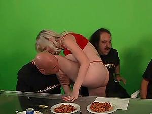 Ladies In Knickers Having Their Vulvas Munched Backstage