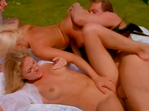 Hot donk stunners Roxanne Hall and Dru Berrymore gets fucked xxx outdoor
