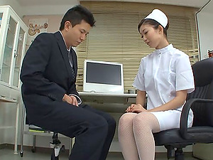 Asian Nurse In Nylon Pantyhose Luvs Her Vulva Being Tongued