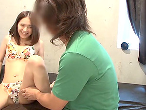 Enchanting Japanese Nubile In G-string Gets Thrusted Gonzo