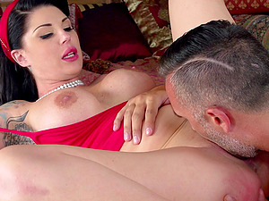 Tattooed Cowgirl With Faux Tits Gets Pinned Xxx